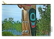 Edward Smarch Totem Pole At Teslin Tlingit Heritage Memorial Center In Teslin-yt Carry-all Pouch