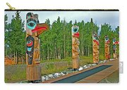 Edward Smarch Totem Poles At Teslin Tlingit Heritage Memorial Center In Teslin-yt Carry-all Pouch