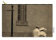 Edwardian Couple Walking On A Cobbled Street Carry-all Pouch