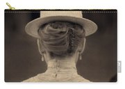 Edwardian Woman With Straw Boater Rear View Carry-all Pouch