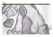 Eeyore With Heart Carry-all Pouch