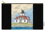 Egg Rock Lighthouse Me Nautical Chart Map Art Carry-all Pouch