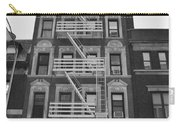 Egress Building In Black And White Carry-all Pouch