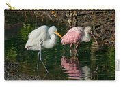 Egret And Pink Spoonbill Carry-all Pouch