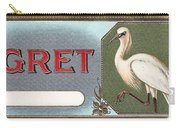 Egret Cigar Label Carry-all Pouch