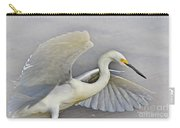 Egret Grace At The Beach Carry-all Pouch