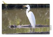 Egret Has A Lot To Say I Carry-all Pouch