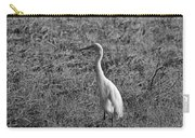 Egret In Black And White Carry-all Pouch