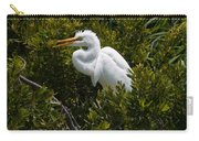 Egret In Bushes Carry-all Pouch