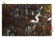 Egret In Hiding Carry-all Pouch