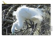Egret In Lake Martin Swamp Louisiana Carry-all Pouch