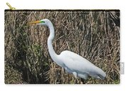 Egret In Marsh In Display  Carry-all Pouch