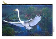 Egret In The Mist Carry-all Pouch