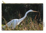 Egret On The Move Carry-all Pouch