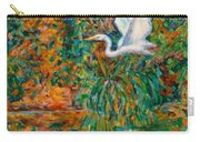 Egret Reflections Carry-all Pouch