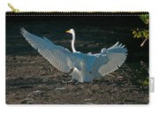 Egret Showing Off Carry-all Pouch