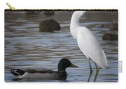 Egret Standing Guard Carry-all Pouch