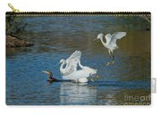 Egrets Robbing A Cormorant Carry-all Pouch