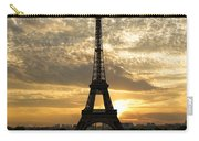 Eiffel Tower At Sunset Carry-all Pouch by Debra and Dave Vanderlaan