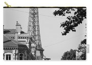 Eiffel Tower Black And White 4 Carry-all Pouch