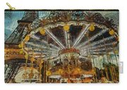 Eiffel Tower Carousel Carry-all Pouch