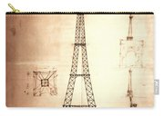 Eiffel Tower Design Carry-all Pouch