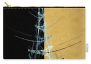 Eiffel Tower In Blue Abstract Carry-all Pouch