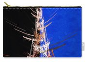 Eiffel Tower In Red On Blue  Abstract  Carry-all Pouch