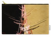 Eiffel Tower In Red On Gold  Abstract  Carry-all Pouch