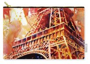 Eiffel Tower In Red Carry-all Pouch