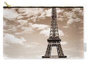 Eiffel Tower In Sepia Carry-all Pouch