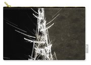Eiffel Tower In White Bw 2 Abstract Carry-all Pouch
