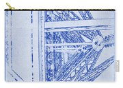 Eiffel Towers Steel Frame Blueprint Carry-all Pouch