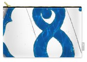 Eight Blue Tile Carry-all Pouch