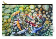 Eight Koi Fish Playing With Bubbles Carry-all Pouch