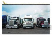 Eighteen Wheeler Vehicles On The Road Carry-all Pouch