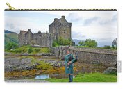 Eilean Donan Castle And The Lone Piper Carry-all Pouch