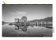 Eilean Donan Castle Black And White Carry-all Pouch