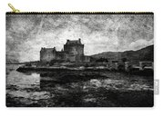 Eilean Donan Castle In Scotland Bw Carry-all Pouch by RicardMN Photography