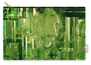 Einstein In Crystal - Green Carry-all Pouch