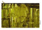 Einstein In Crystal - Yellow Carry-all Pouch