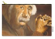 Einstein - Original  Oil Painting Carry-all Pouch
