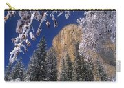 El Capitan Framed By Snow Covered Black Oaks California Carry-all Pouch