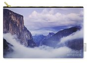 El Capitan Rises Above The Clouds Carry-all Pouch