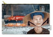 Elderly Vietnamese Woman Wearing A Conical Hat Altered Version Carry-all Pouch