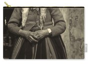 Elderly Woman In Black And White Carry-all Pouch