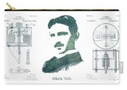 Electric Arc Lamp Patent Art Nikola Tesla Carry-all Pouch