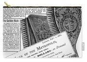 Electric Brushes, 1882 Carry-all Pouch