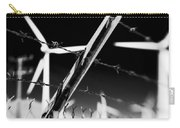 Electric Fence Black And White Carry-all Pouch