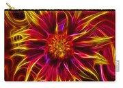 Electric Firewheel Flower Artwork Carry-all Pouch